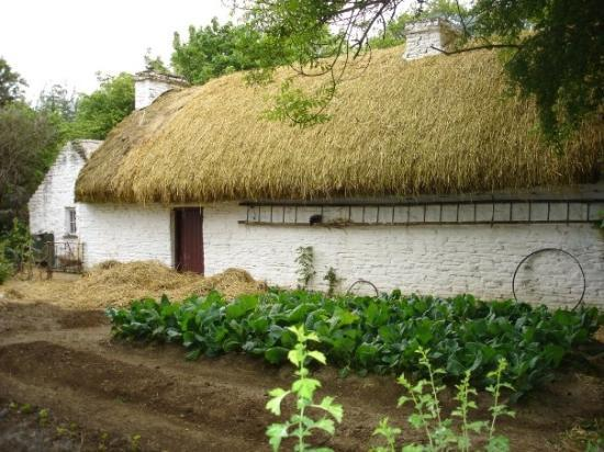 Killarney, Irland: Thatched roof cottage