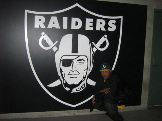 Oakland, CA: a chargers fan kicked this logo, and almost got his face kicked. why did I break it up?