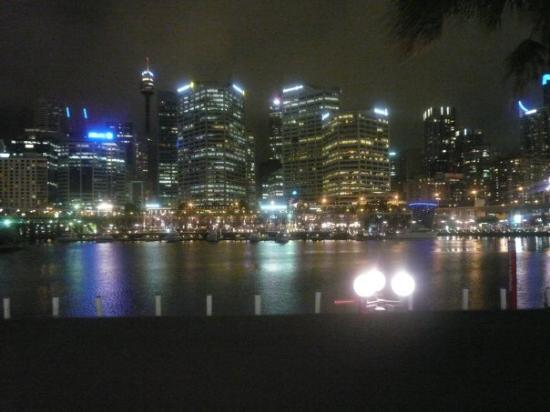 Darling Harbour by night, plus some decent camera light absorbing effects