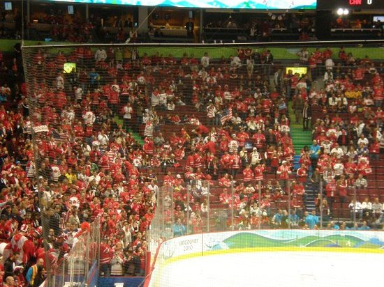 Rogers Arena: Sea of Red.