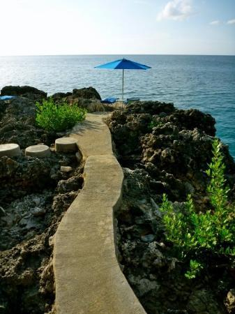 Rockhouse Hotel: Walkway To Our Private Sunning Deck