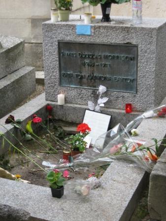 Pere-Lachaise gravlund (Cimetiere du Pere-Lachaise): Jim Morrison's grave at Pere LaChaise Cemeter