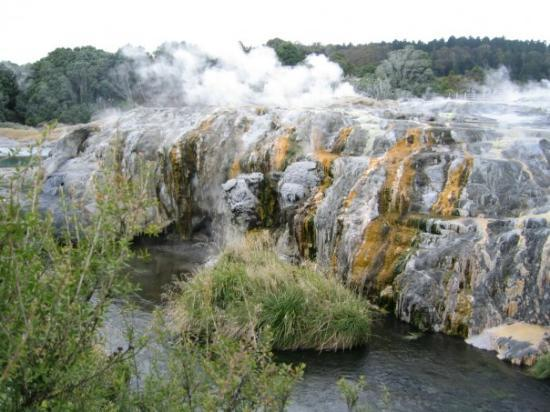 View of Pohutu Geyser, meaning big splash or explosion. Te PUIA, Rotorua.