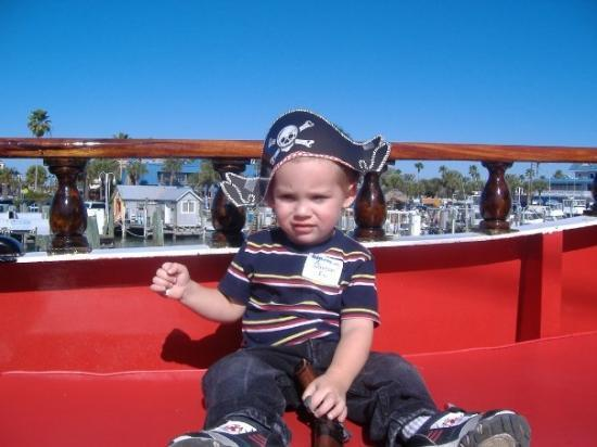 New Port Richey, FL: Carson 2nd Birthday on a Pirate Ship in Clearwater.