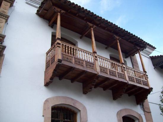 Sucre, Bolivia: Balcón de la Casa de la Libertad.