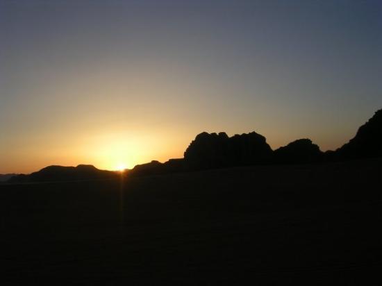 Wadi Rum Protected Area: Sunset in Wadi