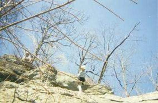 Morganton, NC: my practice mtn.... first time rapelling, outward bound, 1995