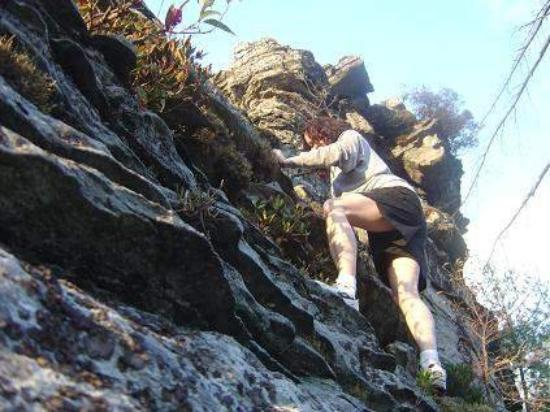 Morganton, Северная Каролина: climbing Babel's Tower lynville gorge 2004