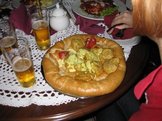 U Babci Maliny: pierogi in a bread bowl! Scott! your favorite!