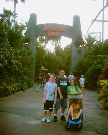 Universal's Islands of Adventure: Going on a Dino Safari in Jurassic Park.