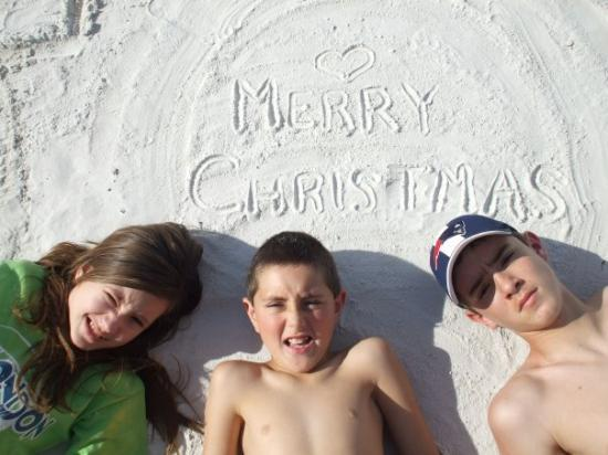 Dog Beach: Merry Christmas from Ft. Myers Beach, Florida!!!