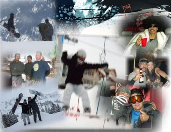 Whistler, Canada: Mario lopez and my bro Horacio