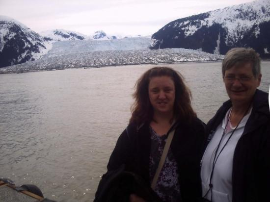 Juneau, AK: Mom and I in front of Taku Glacier