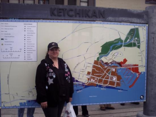 Me in Ketchikan our first stop