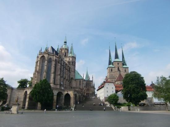 Erfurt, Tyskland: Dom und Severikirche