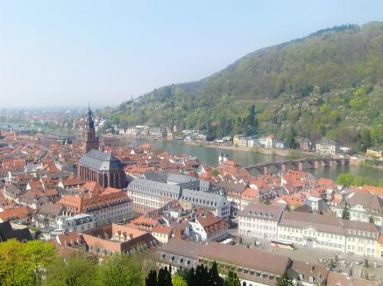 Heidelberg, Tyskland: Ausblick vom Schloss