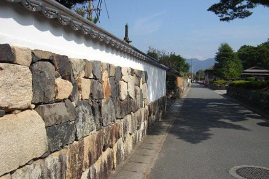 White and stone wall, Hagi, Yamaguchi Pref., Japan