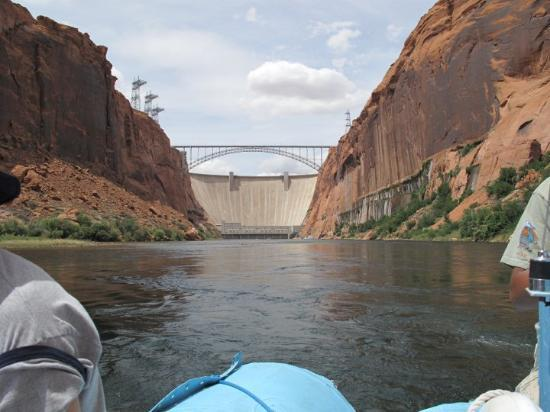 Glen Canyon Dam, Page Arizona. River raft trip