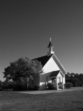 Kerrville, TX: it was a cute lil church in texas. turned out to be a great photo in black and white so i framed