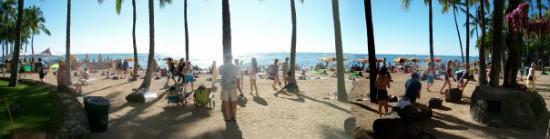 Panoramic view of Waikiki Beach