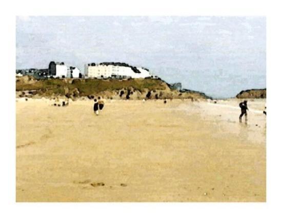 Tenby beach, Wales.