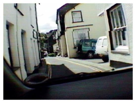 Narrow road through town, Ambleside.
