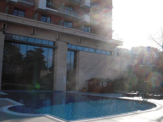 Hilton Evian-les-Bains: piscine, bassin extérieur