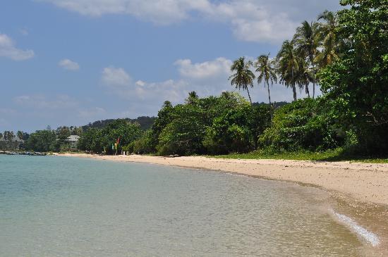 Nakamanda Resort & Spa: Grande plage à droite