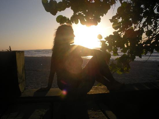 Hotel Los Delfines: coucher de soleil