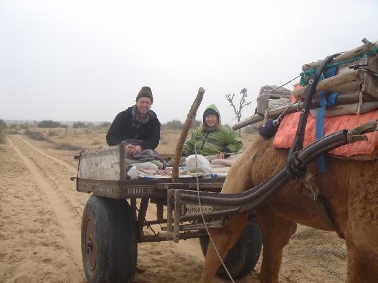 Vinayak Guest House: A jaunt on a camel cart.