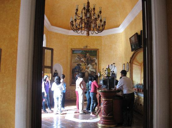La Rojena: The lobby at Cuervo where you register for the tour
