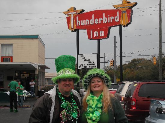 The Thunderbird Inn: Celebrating St. Patty's day.