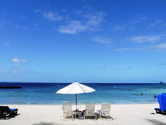 Palau Pacific Resort : プライベートビーチ