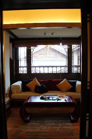 InterContinental Lijiang Ancient Town Resort: We were upgraded to a suite with a lounge area