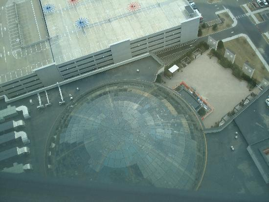 Harrah's Resort Atlantic City: View of domed pool from 41st floor Waterfront Tower