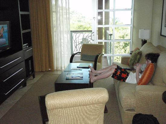 The Westin St. John Resort Villas: Living room (my brother) (villa 2731) (3/2010)
