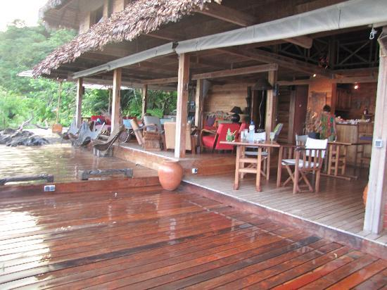 Tsara Komba Luxury Beach Forest Lodge: La terrasse du restaurant