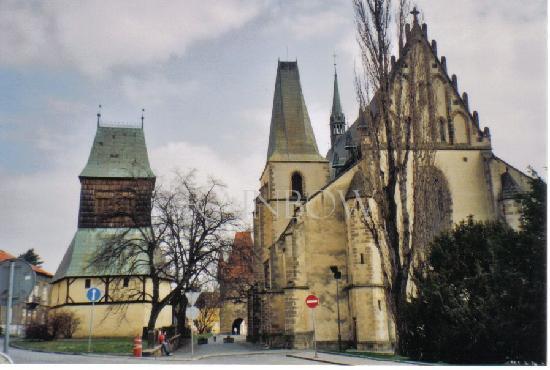 Rakovnik, church and towngate