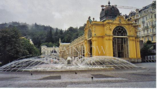 Marianske Lazne, Tsjekkia: Neobarok and fountain