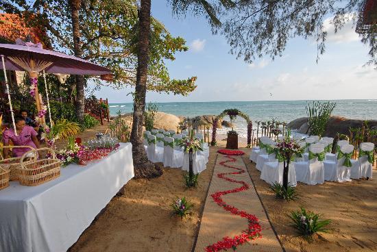 Rocky's Boutique Resort: Wedding layout