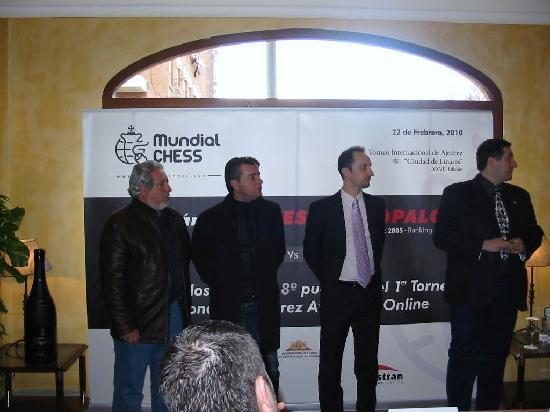 RL Anibal: Presentación del GM Veselin Topalov en el Hotel Aníbal