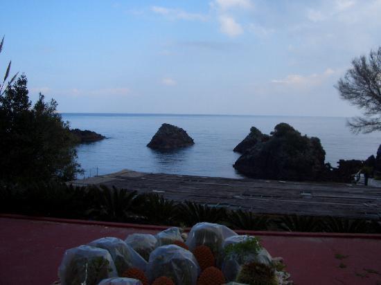 Delfini Strand Hotel Terme: panorama balcone stanza