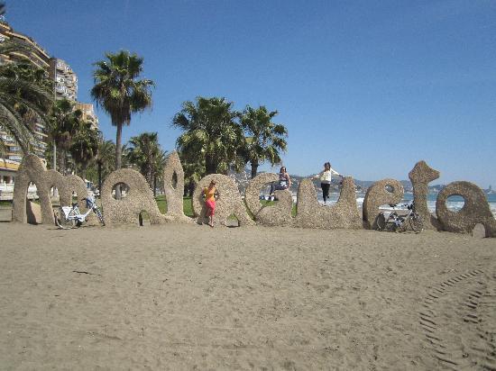 Malaga Bike Tours & Rentals by Kay Farrell: on the beach