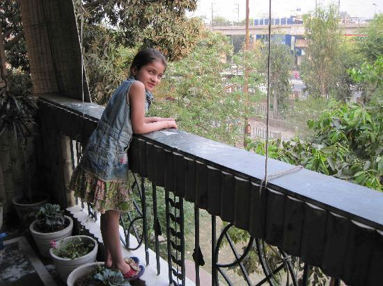 Delhi Bed and Breakfast: Cecile in our Balcony