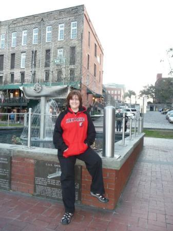 I am a Trailblazer fan...On River Street in Old Historic Savannah where the slaves had to work i