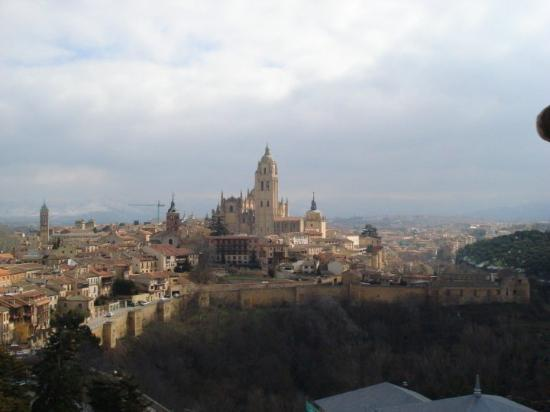 Segovia seen from John II tower at Alcazar
