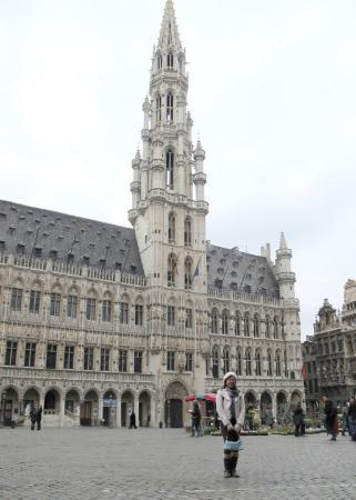 Grand-Place: Hotel de Ville, a Gothic town hall, which dates back to the 13th century.