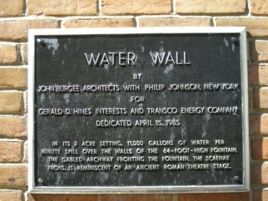 Williams Water Wall Houston, TX