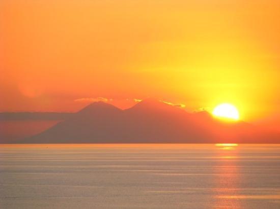 Labuan Bajo, Indonesia: Sunset over Gunung Api, Sumbawa Labuanbajo, Flores