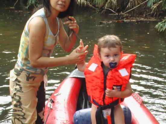 Krabi, Thailand: Tante Aou og Rasmus